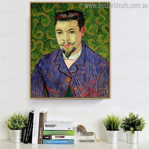 Doctor Felix Rey Vincent Van Gogh Impressionist Reproduction Figure Painting Canvas Print for Wall Ornament