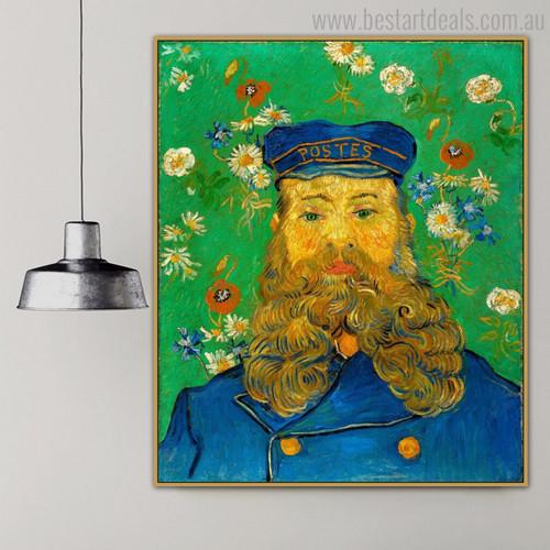 Joseph Roulin Vincent Van Gogh Impressionist Reproduction Portrait Print for Wall Onlay