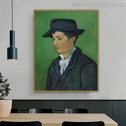 Armand Roulin Vincent Van Gogh Impressionist Reproduction Figure Painting Print for Dining Room Wall Adornment
