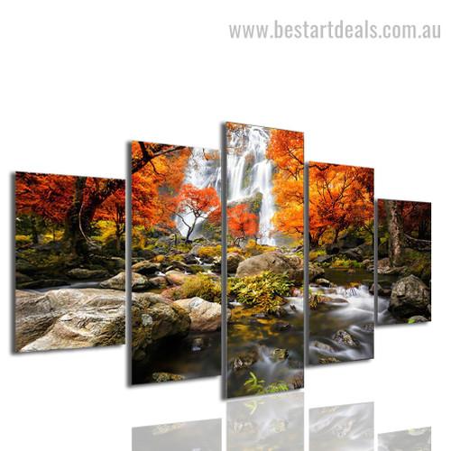 Autumn Trill Nature Landscape Modern Framed Artwork Photo Canvas Print