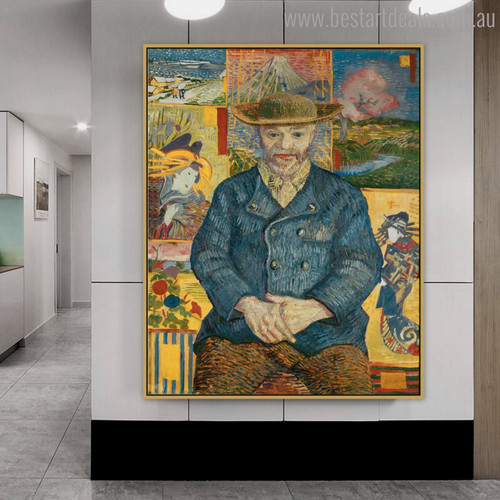 Pere Tanguy Vincent Van Gogh Impressionist Reproduction Figure Painting Print for Room Wall Equipment