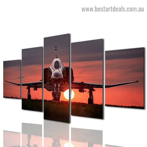 Fighter Jet Travel Modern Artwork Photo Canvas Print for Room Wall Ornament