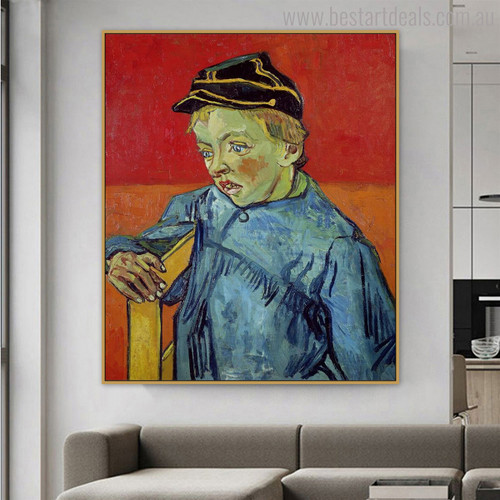 The Schoolboy Camille Roulin Vincent Van Gogh Impressionist Reproduction Figure Painting Print for Wall Assortment