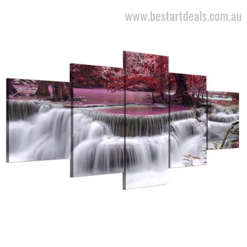 Stunning Waterfall Nature Landscape Modern Framed Effigy Image Canvas Print