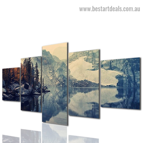 Hill Scenery Landscape Modern Artwork Picture Canvas Print for Room Wall Adornment