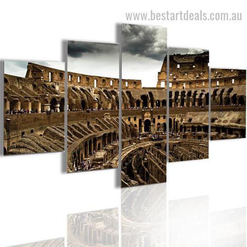 Colosseum Architecture Cityscape Vintage Framed Pic