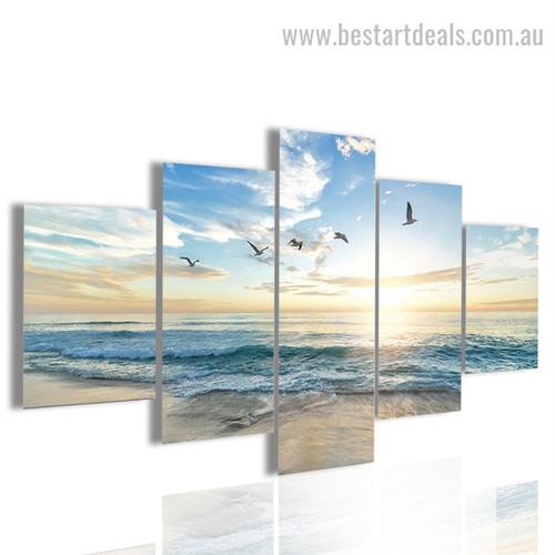 Shoreline Nature Seascape Modern Framed Effigy Pic Canvas Print