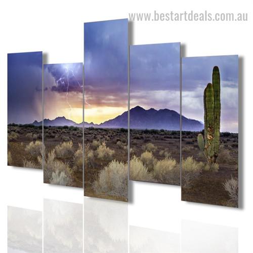 Arizona Monsoon Nature Landscape Modern Framed Painting Pic Canvas Print