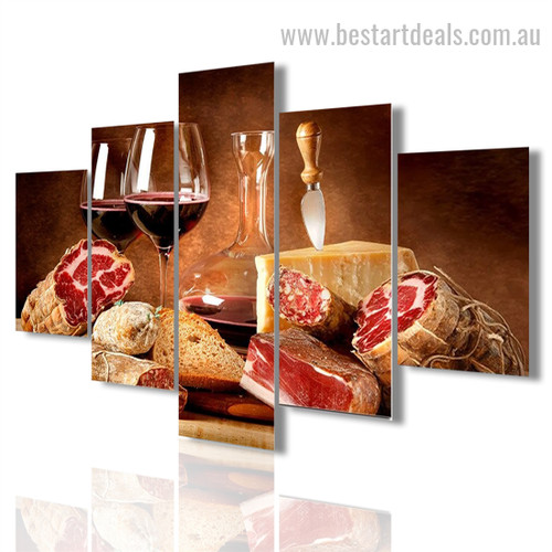Cabernet Sauvignon Food And Beverages Modern Painting Image Canvas Print