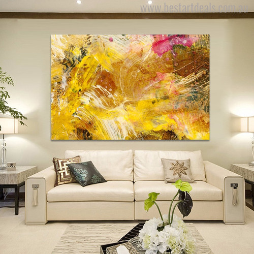 Chromatic Shade Abstract Modern Painting Picture Canvas Print for Home Wall Decoration
