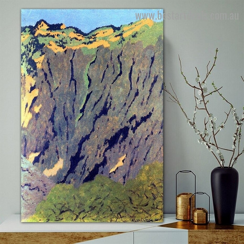 Cliffs Félix Edouard Vallotton Landscape Impressionism Portrait Painting Canvas Print for Room Wall Garniture