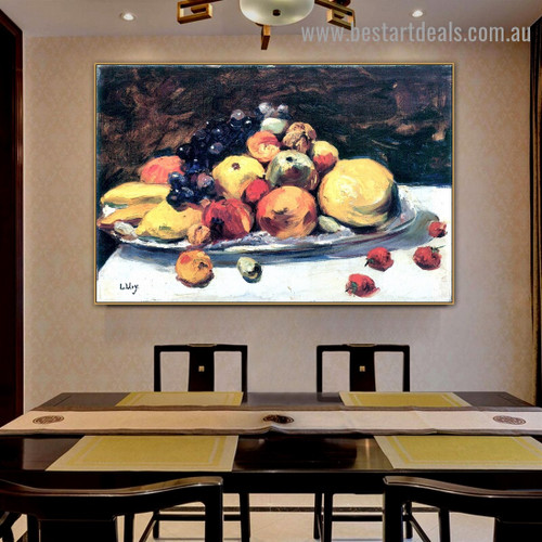 Fruit Leo Lesser Ury Food and Beverage Impressionist Portrait Painting Canvas Print for Room Wall Garniture