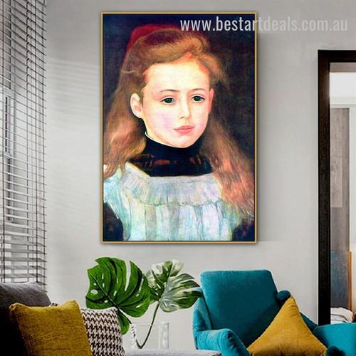 Portrait of Lucie Berard Pierre Auguste Renoir Figure Impressionism Portraiture Pic Canvas Print for Room Wall Garnish
