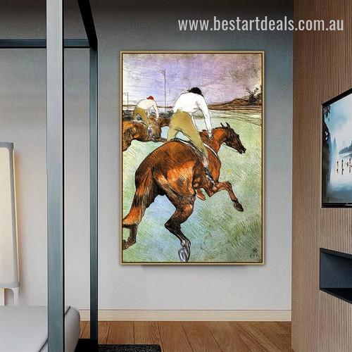 The Jockey Henri De Toulouse Lautrec Figure Animal Impressionism Artwork Image Canvas Print for Room Wall Arrangement