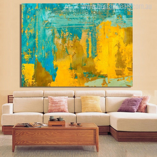 Calico Abstract Modern Painting Canvas Print for Living Room Wall Assortment