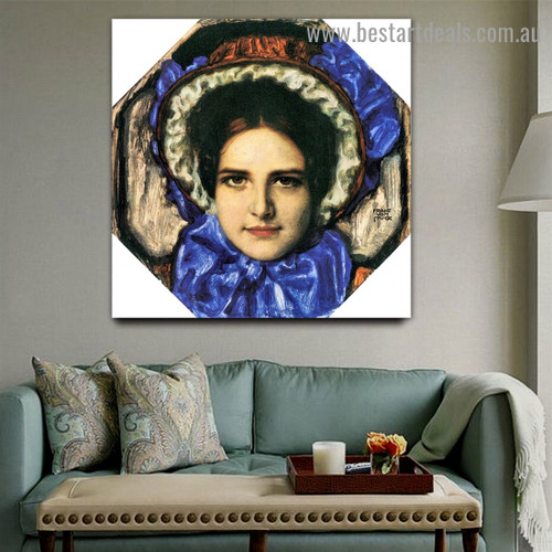Daughter Mary Franz Von Stuck Figure Expressionism Artwork Image Canvas Print for Room Wall Garniture