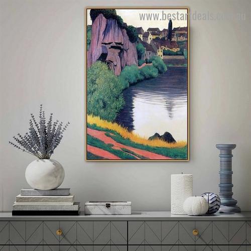 Landscape Semur Félix Edouard Vallotton Nature Impressionism Artwork Image Canvas Print for Room Wall Adornment