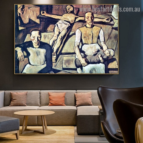 Mother Albin Egger Lienz Figure Expressionism Portrait Image Canvas Print for Room Wall Ornament
