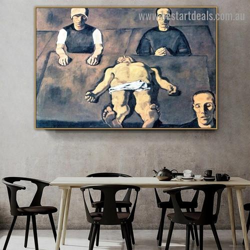 Piety Albin Egger Lienz Figure Expressionism Portrait Image Canvas Print for Room Wall Décor