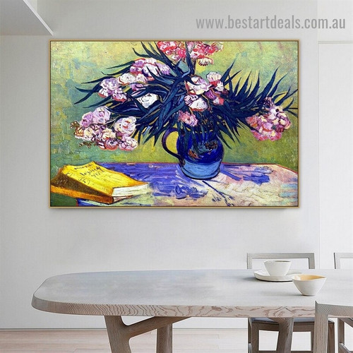 Still Life with Oleander Vincent Willem Van Gogh Impressionist Portrait Painting Canvas Print for Room Wall Adornment