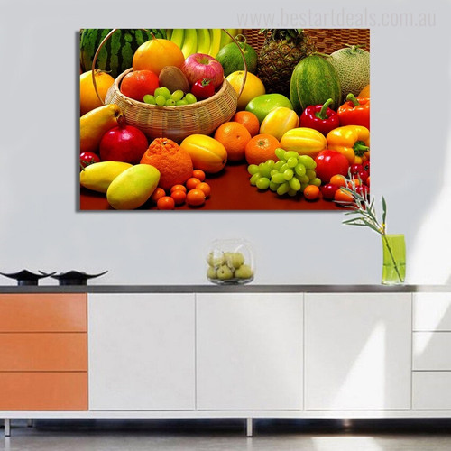 Fruits Food & Beverage Modern Picture Canvas Print for Kitchen Room Wall Decor