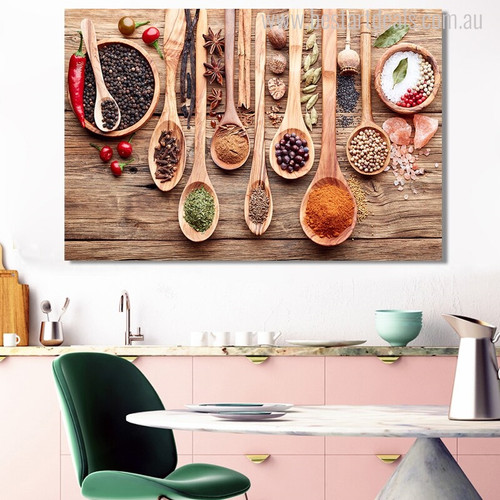 Food Spices Food & Beverage Modern Picture Canvas Print for Dining Room Wall Ornament