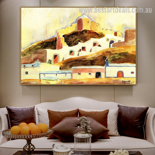 Almeria I Walter Gramatte Cityscape Expressionism Effigy Image Canvas Print for Room Wall Garnish