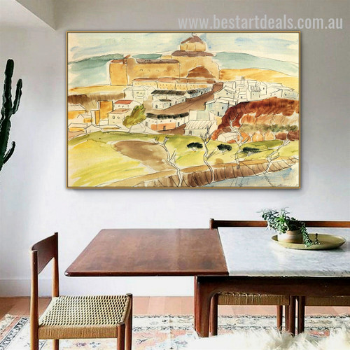 Almeria II Walter Gramatte Cityscape Expressionism Portraiture Pic Canvas Print for Room Wall Decoration