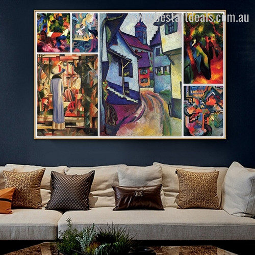 August Collage IV Expressionism Portrait Photo Canvas Print for Room Wall Decoration