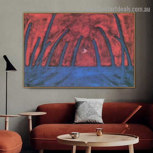 The Dreaming Boy III Walter Gramatté Landscape Expressionist Artwork Image Canvas Print for Room Wall Garniture