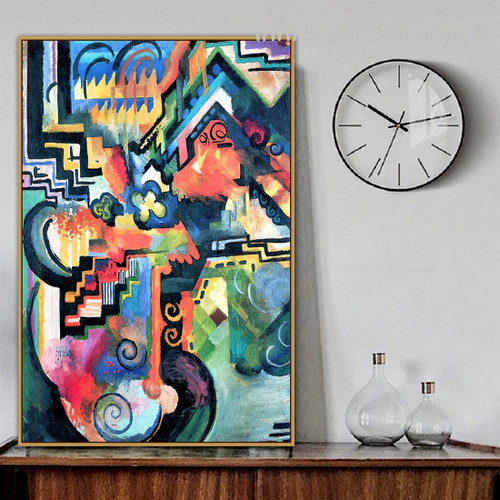 Colored Composition (Homage to Johann Sebastian Bach) Abstract Expressionism Portraiture Pic Canvas Print for Room Wall Decoration