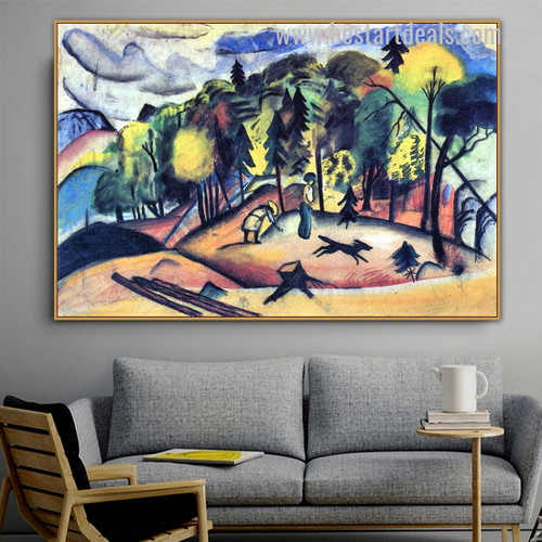 Forest Walk Nature Landscape Expressionism Effigy Pic Canvas Print for Room Wall Outfit