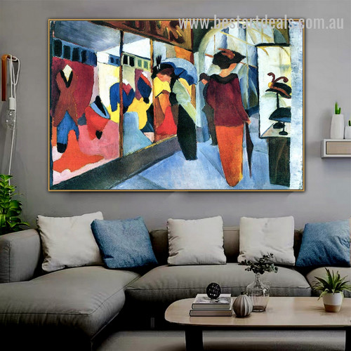 Fashion Store Figure Orphism Painting Image Canvas Print for Room Wall Decoration