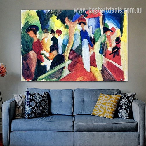 Hat Shop At The Promenade Figure Expressionism Effigy Photo Canvas Print for Room Wall Arrangement
