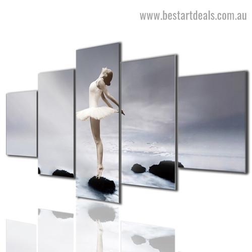 Ballet Dancer Landscape Figure Modern Artwork Photo Canvas Print for Room Wall Ornament