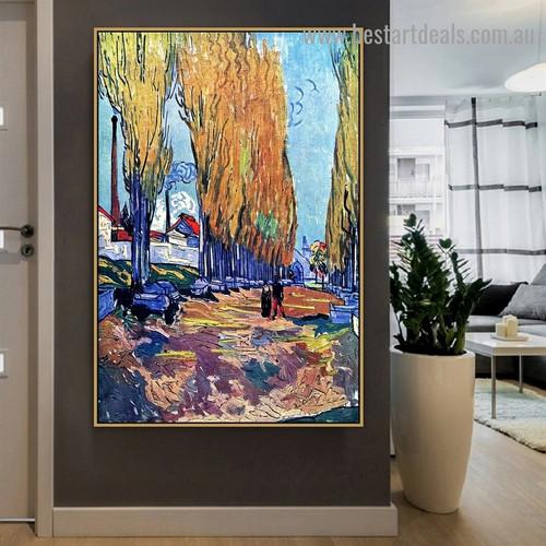 Les Alyscamps Vincent Willem Van Gogh Botanical Landscape Impressionism Artwork Image Canvas Print for Room Wall Garniture
