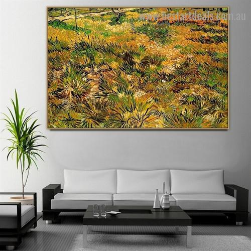 Meadow in the Garden of Saint Paul Hospital 1890 Vincent Willem Van Gogh Landscape Impressionist Portrait Photo Canvas Print for Room Wall Ornament