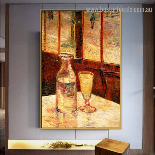 Still Life with Absinthe 1887 Vincent Willem Van Gogh Impressionism Portrait Image Canvas Print for Room Wall Adornment