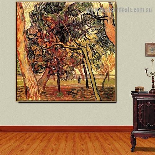 Study of Pine Trees Vincent Willem Van Gogh Botanical Landscape Impressionism Artwork Painting Canvas Print for Room Wall Garniture