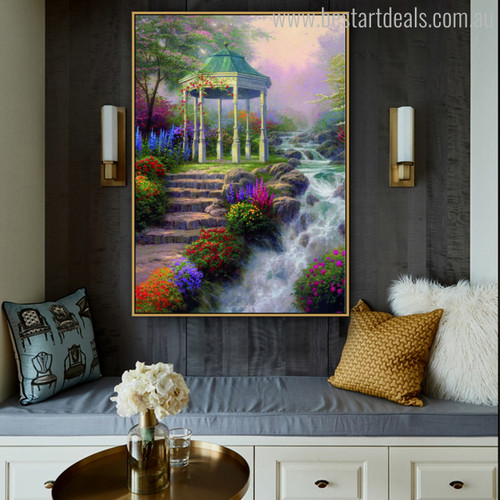 Sweetheart Gazebo Botanical Reproduction Painting Canvas Print for Room Wall Decor