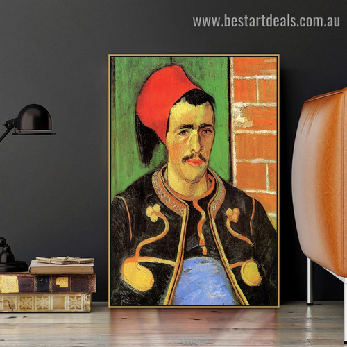 The Zouave Half Length Vincent Willem Van Gogh Figure Impressionism Portrait Picture Canvas Print for Room Wall Adornment
