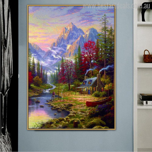 The Good Life Landscapes Reproduction Painting Canvas Print for Room Wall Decor