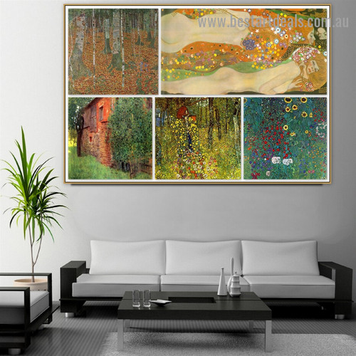 Gustav Klimt Collage XXI Symbolism Reproduction Artwork Image Canvas Print for Room Wall Décor