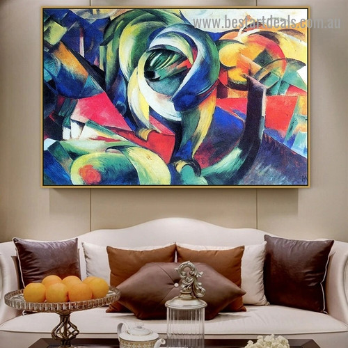 Mandrill Franz Moritz Wilhelm Marc Botanical Abstract Expressionism Reproduction Artwork Image Canvas Print for Room Wall Garniture