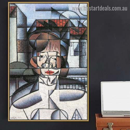 Portrait of Germaine Raynal Juan Gris Figure Analytical Cubism Reproduction Artwork Photo Canvas Print for Room Wall Garniture