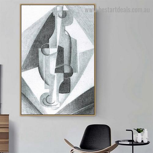 Still Life Juan Gris Cubism Reproduction Portrait Picture Canvas Print for Room Wall Garniture