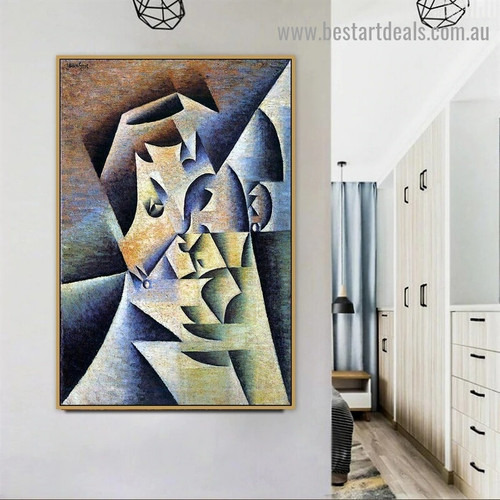 Portrait of the Artist s Mother Juan Gris Figure Analytical Cubism Reproduction Artwork Picture Canvas Print for Room Wall Adornment