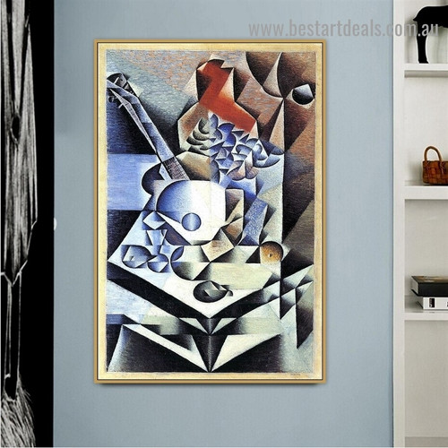 Still Life with Flowers Juan Gris Analytical Cubism Reproduction Artwork Image Canvas Print for Room Wall Ornament