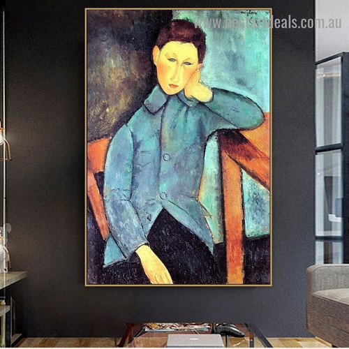 The Boy Amedeo Clemente Modigliani Figure Expressionism Reproduction Portrait Picture Canvas Print for Room Wall Decoration