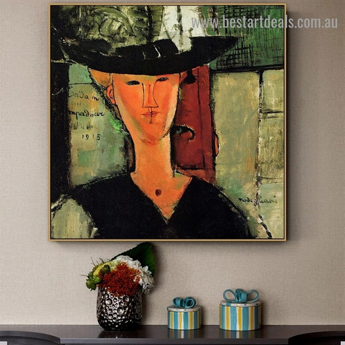 Madame Pompadour Amedeo Clemente Modigliani Figure Expressionism Reproduction Portrait Photo Canvas Print for Room Wall Adornment